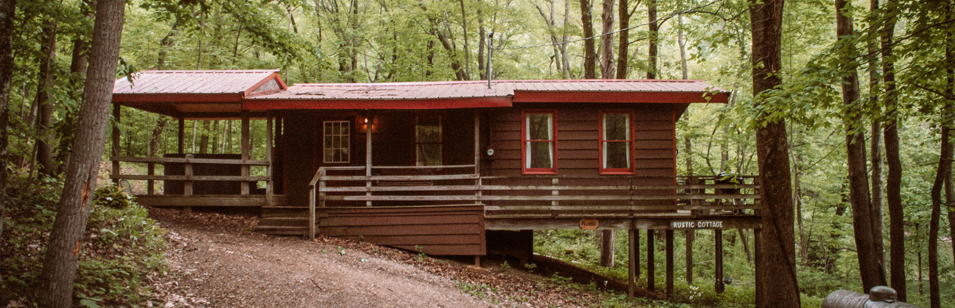 Rustic Cabin Rental at Wyandot Woods